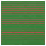 [ Thumbnail: Brown & Dark Green Colored Lines Pattern Fabric ]