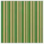 [ Thumbnail: Brown & Dark Green Colored Pattern Fabric ]