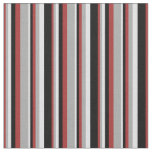 [ Thumbnail: Brown, Dark Grey, Lavender, and Black Stripes Fabric ]