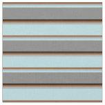 [ Thumbnail: Brown, Dark Grey, Powder Blue, Grey & Black Lines Fabric ]