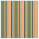 [ Thumbnail: Brown, Dark Olive Green, Light Yellow, and Black Fabric ]