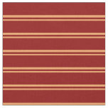 [ Thumbnail: Brown & Dark Red Striped/Lined Pattern Fabric ]