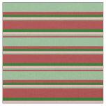 [ Thumbnail: Brown, Dark Sea Green, Light Pink, and Dark Green Fabric ]