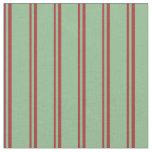 [ Thumbnail: Brown & Dark Sea Green Lines/Stripes Pattern Fabric ]