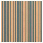 [ Thumbnail: Brown & Dark Slate Gray Lines/Stripes Pattern Fabric ]
