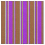 [ Thumbnail: Brown, Dark Violet, and Dark Grey Colored Pattern Fabric ]