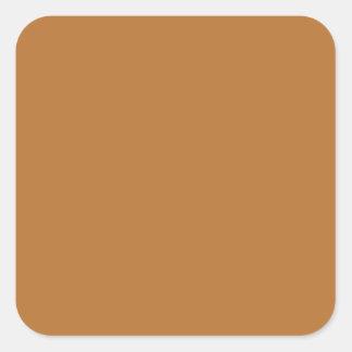 Brown de cobre pegatina cuadrada