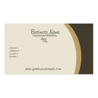 Brown de oro poner crema liso tarjeta personal