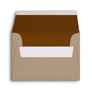 Brown Decor Color You Can Customize Envelope
