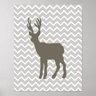 Brown Deer w/ Chevron Poster