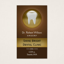 brown Dental businesscards with appointment card
