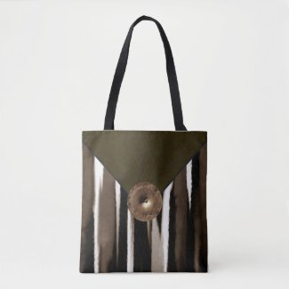 Brown Designer Fashion Tote Bag