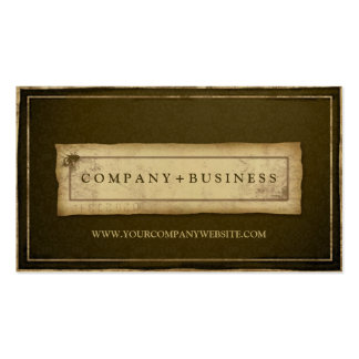 Brown Designer Vintage Grunge Professional Business Card