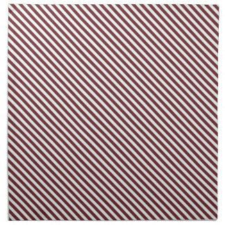 Brown Diagonal Lines Cloth Napkin
