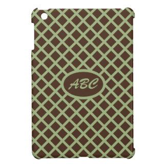 Brown Diamond and Olive Green Mini iPad Cover