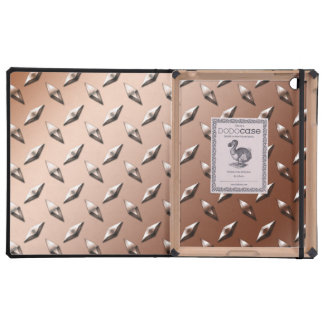 Brown diamond steel plate monogram iPad covers