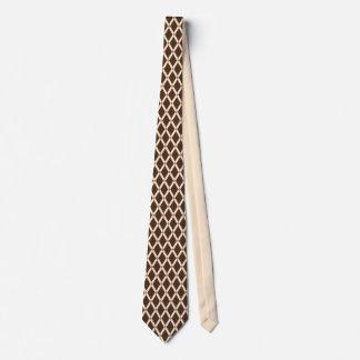 Brown Diamonds-Almond Frames Tie