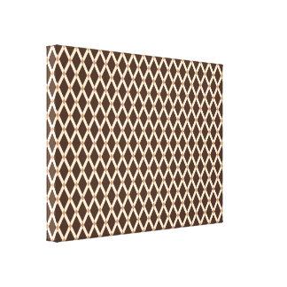 Brown Diamonds-Almond Frames Wrapped Canvas