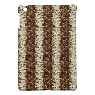 Brown Diamonds Snake Skin Pattern Cover For The iPad Mini