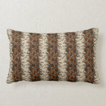 Brown Diamonds Snake Skin Pattern Throw Pillow