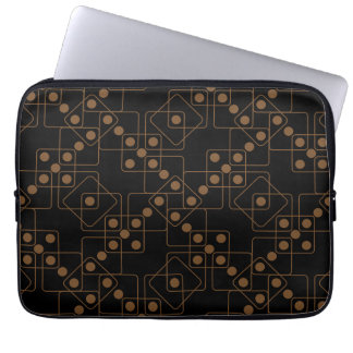 Brown Dice Laptop Computer Sleeve