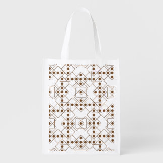 Brown Dice Reusable Grocery Bag