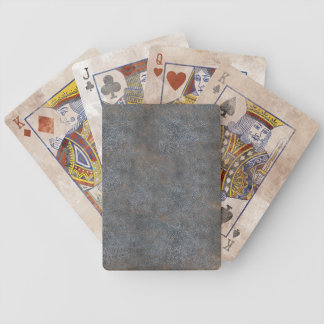Brown Distressed Leather Bicycle® Playing Cards