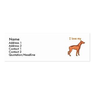 Brown Doberman Pincher Mini Business Card