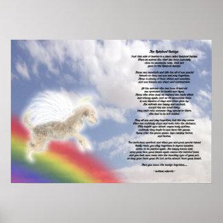 Brown Dog Angel At Rainbow Bridge Poster