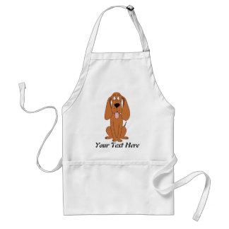 Brown Dog Cartoon. Hound. Adult Apron