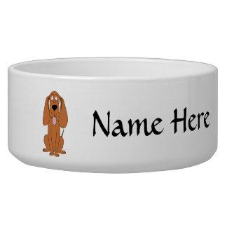 Brown Dog Cartoon. Hound. Bowl