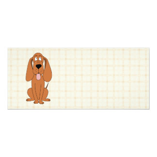 Brown Dog Cartoon. Hound. Card