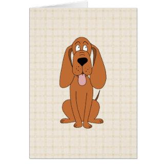 Brown Dog Cartoon. Hound. Card