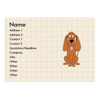 Brown Dog Cartoon. Hound. Large Business Card