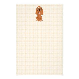 Brown Dog Cartoon. Hound. Stationery