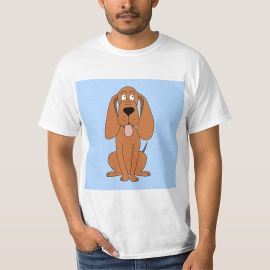 Brown Dog Cartoon. Hound. T-Shirt