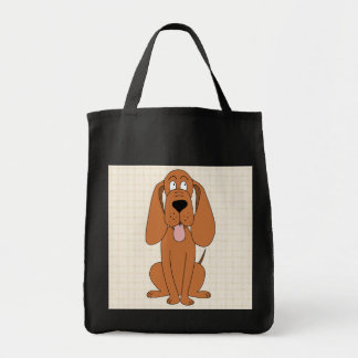 Brown Dog Cartoon. Hound. Tote Bag