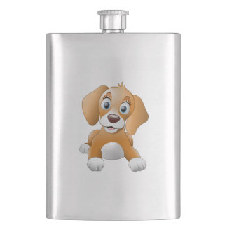 Brown dog clipart flask
