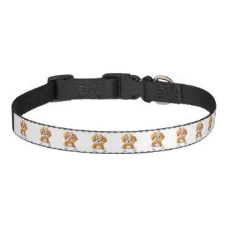 Brown dog clipart pet collar