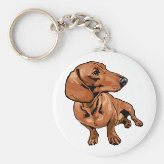 Brown Dog Keychain