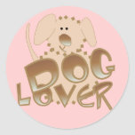 Brown Dog Lover Tshirts and Gifts Classic Round Sticker