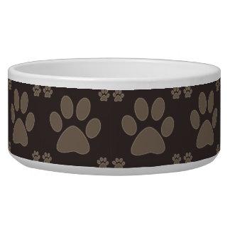 Brown Dog Paws Dog Food Bowls