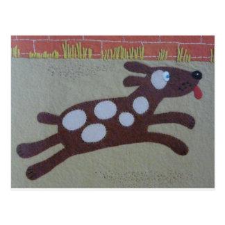 brown dog postcard