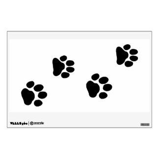 Brown Dog Tracks on White (Customizable) Wall Sticker