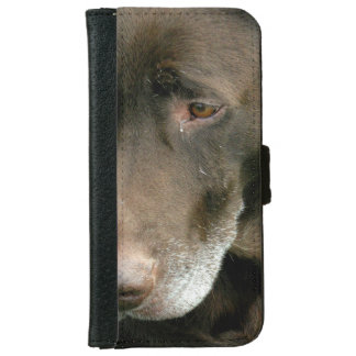 Brown Dog Wallet Phone Case For iPhone 6/6s