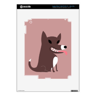 Brown Dog with Sharp Teeth iPad 3 Skins