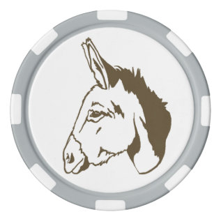 Brown Donkey Poker Chip Set! at Zazzle