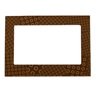 Brown Dot Patchwork Picture Frame Magnet