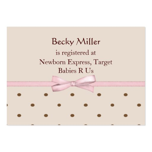 brown dots baby shower registry cards zazzle