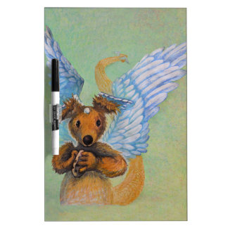Brown Dragon With White Wings Dry-Erase Board